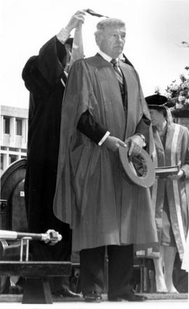 Samuel Belzberg in academic robes, S.F.U.