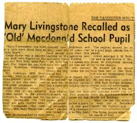 Newspaper Clipping - November 29, 1956