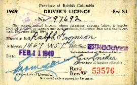 Driver's Licence, February 11, 1949