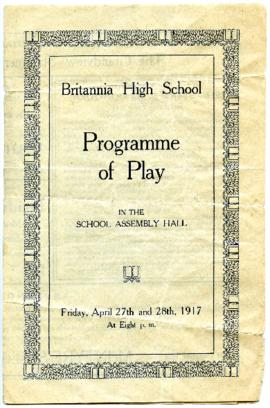 Programme - April 27 and 28, 1917