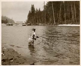 Bryan Williams fishing in Capilano River