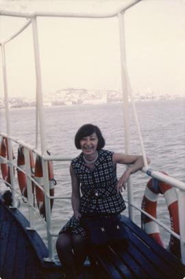 Elaine Fromson on Ferry to Lisbon