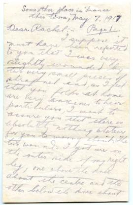 Letter - May 7, 1917