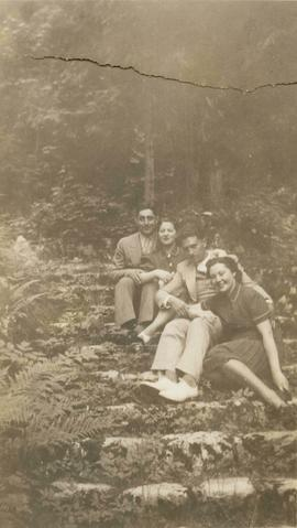 Harry and Esther Seidelman with Max Minster and an unidentified woman in Vancouver, British Columbia