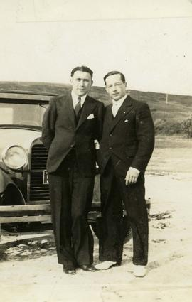 [Ben Dayson and unidentified man]