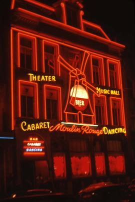 Exterior of the Moulin Rouge theatre