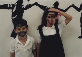 Children face painted