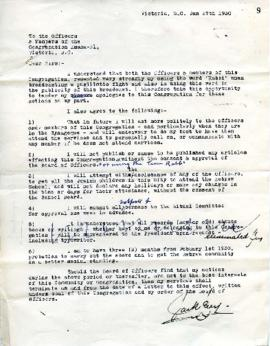 Agreement between Jack Levy and the Congregation - January 27, 1930