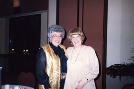 [Two unknown women at B'nai B'rith Women event]