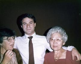 Ann, Rose, and an unidentified gentleman