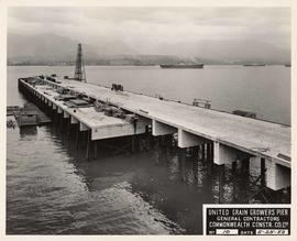 United Grain Growers Pier, course of construction, Vancouver
