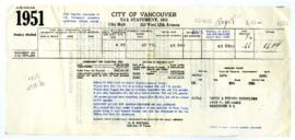 1951 Property Tax Statement - August 6, 1951