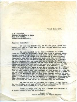 Letter - March 11, 1964