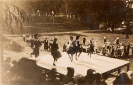Scottish dancers on stage