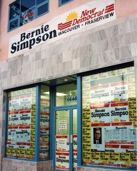 [Bernie Simpson - New Democrat - Vancouver - Fraserview constituency office]