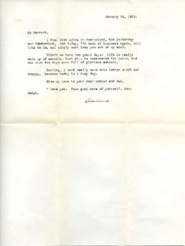 Letter from Ann, January 16, 1933