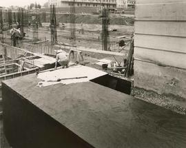 Construction of the new wing at Shaughnessy Hospital, October 15, 1958, 3:30 p.m.