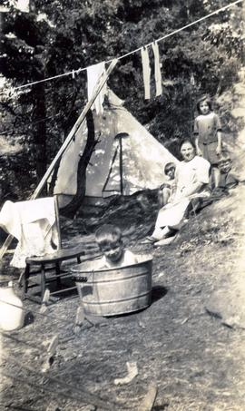 Jane Fromson [camping]