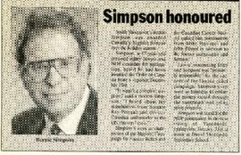 The Vancouver Echo - Wednesday, January 10, 1990 - Simpson honoured