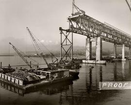 No. 37 - Second Narrows Bridge, course of construction