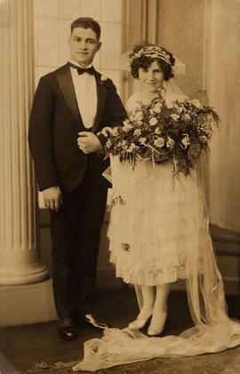 Wedding photo of Bill and Florence Nemetz