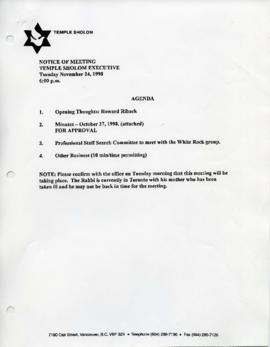 Minutes for Executive Meeting, November 24, 1998