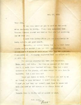 Letter from Ruth, July 12, 1932