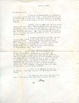 Letter from Ann, March 1, 1933