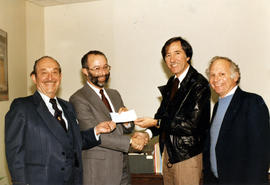 Presentation of cheque, B'nai B'rith