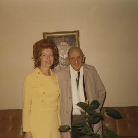 Grace McCarthy with an unidentified man at Louis Brier Home and Hospital