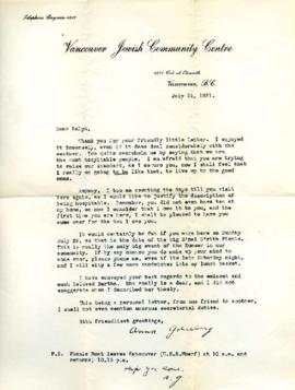 Letter from Ann, July 23, 1931