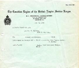 Canadian Legion and British Empire Service League