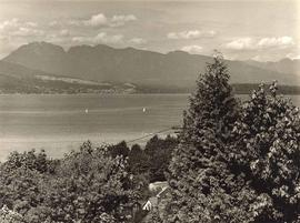 View from Vancouver across Burrard Inlet to North Shore
