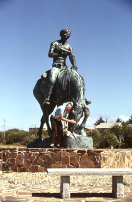 Abraham Lincoln on Horseback (Young Abe Lincoln) statue