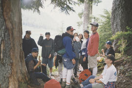 Campers at Elk River in Strathcona Park