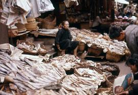 Market dried fish