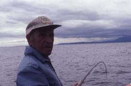 Unknown man fishing
