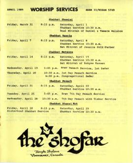 The Shofar - April 1989