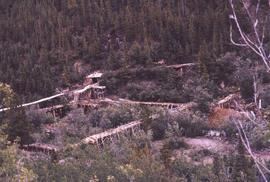 Mining (possibly gold-mining) operation in Atlin, B.C.