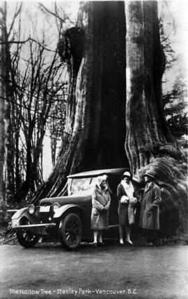 Car in Hollow Tree, Stanley Park, Vancouver, British Columbia