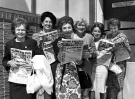 B'nai Brith Women Convention - group of women outside Canada Customs, holding issue of  the ...