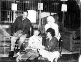 Group in Golden Age lounge