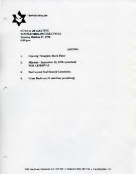 Minutes for Executive Meeting, October 27, 1998