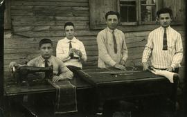 Four unidentified young men