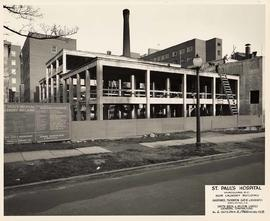 Construction of the new laundry building, St. Paul's Hospital
