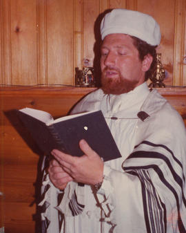 Robert Edel in cantorial robes