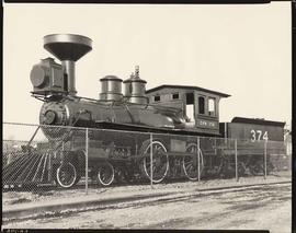 First Transcontinental locomotive, Kitsilano Beach, Canadian Pacific Railway engine No. 374