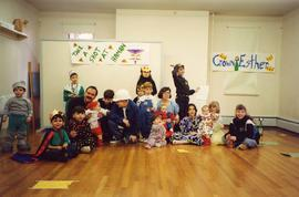 [Purim - children in costumes]