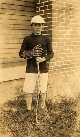 Benjamin or William Seidelman dressed in lacrosse uniform