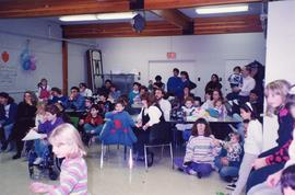Audience in classroom